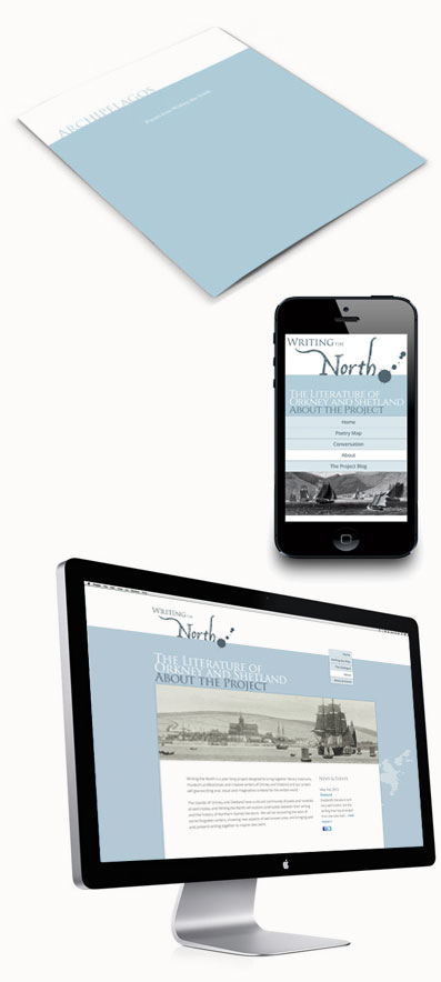 Photo of 'Writing the North', online and offline.